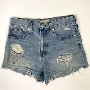 Madewell The Perfect Jean Short Size 25 Distressed